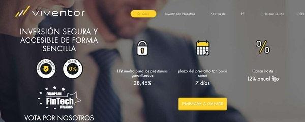 Reseña de la plataforma de crowdlending Viventor