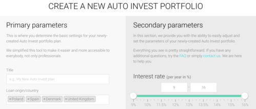 Auto-invest feature of Fast Invest will allow you to completely automate your investments on the platform. This is really easy to do inside Fast Invest: you have a very clear interface that you can use to create an auto-invest portfolio.