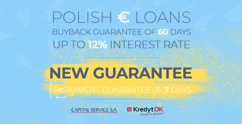 FAST INVEST is extending the loan list with the EUR loans issued in Poland by CAPITAL SERVICE S.A. These loans will be available with up to 10-12% interest rate.