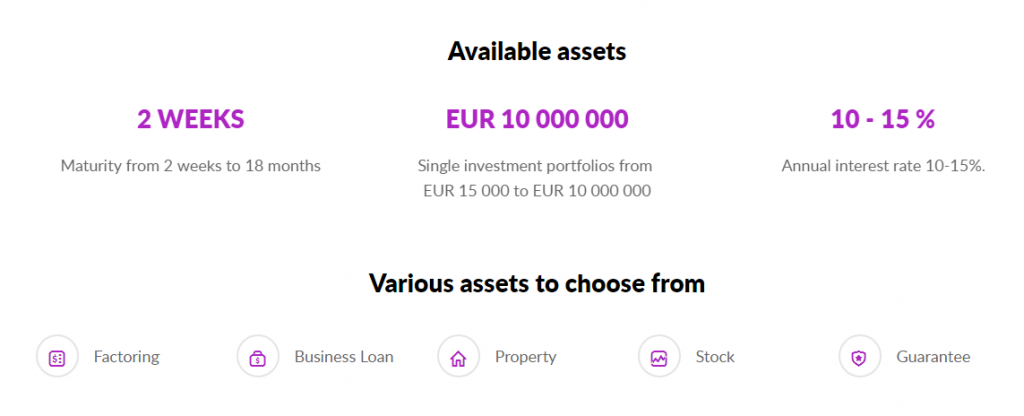 Debitum Network acts as a marketplace for factoring and P2B loans for credit institutions such as Debifo, Monify or Credital , originators from Lithuania and Latvia that we have seen in some other marketplaces such as Mintos.<br /><br />The main attraction and differentiation of its proposal is its specialization in short-term assets and its commitment to safer investment options such as invoices.